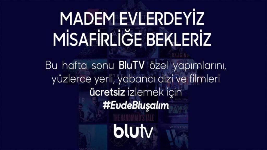 BluTV haftasonu ucretsiz