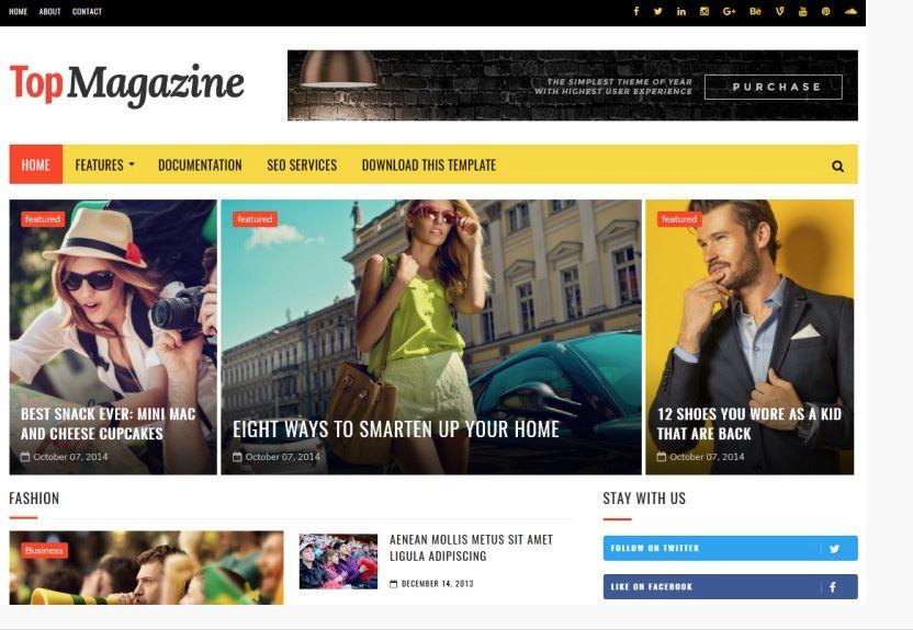 top magazine en iyi ücretsiz blogger temaları